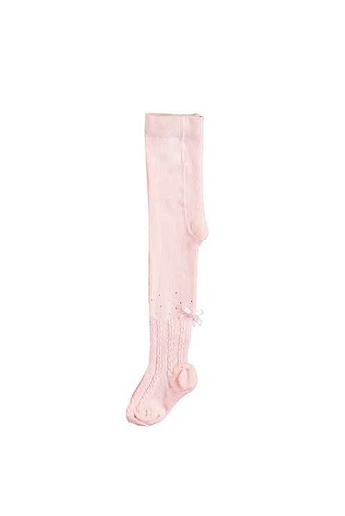 Le Chic - Ruby Cable Knit Pink Tights