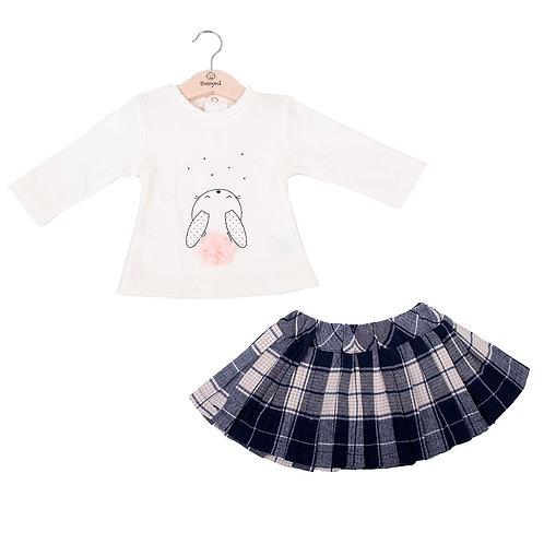 Babybol - 2 Piece Set Check Skirt
