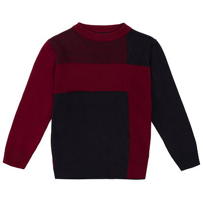 UBS2 - Boys Navy and Red Sweater