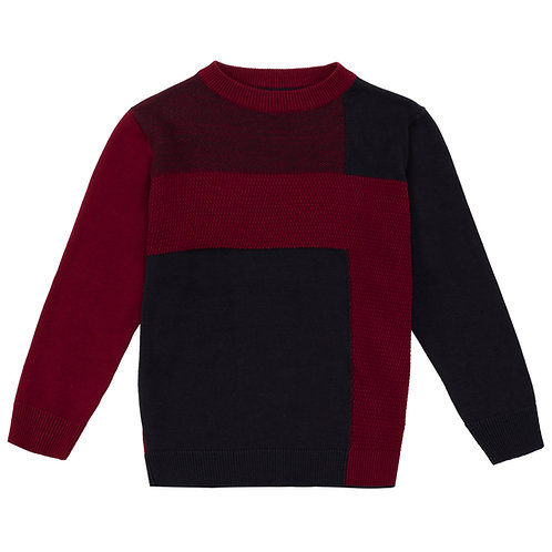 UBS2 - Boys Navy and Wine Sweater