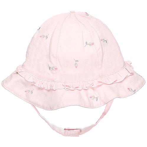 Patricia - Pink Woven Sunhat & chin strap
