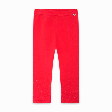 Tuc Tuc - Red Jersey Leggings Hearts