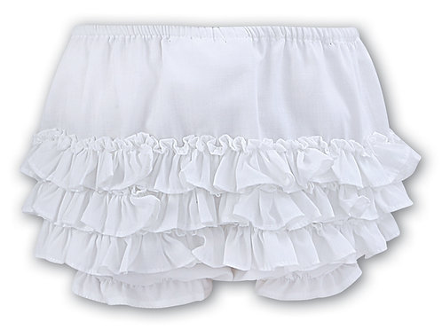 Sarah Louise - White Frilly Panties