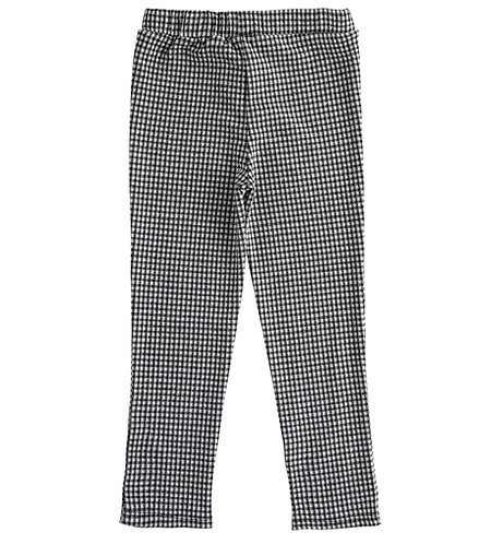 iDO - Black Check Knitted Trousers