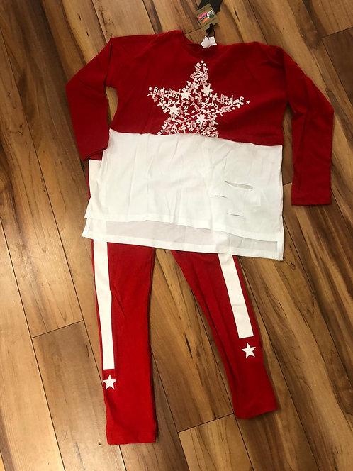 iDO Red Sweater & Pants Set