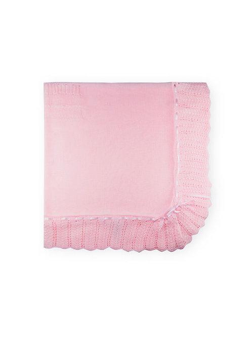 Sardon - Ivon Baby Knitted Shawl in Pink