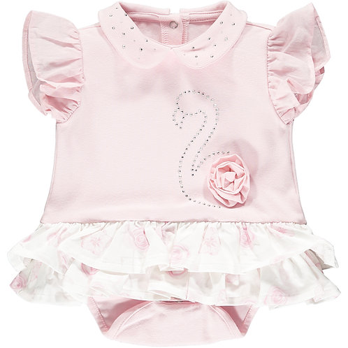 Little A - Jadine Frilly Flamingo Romper