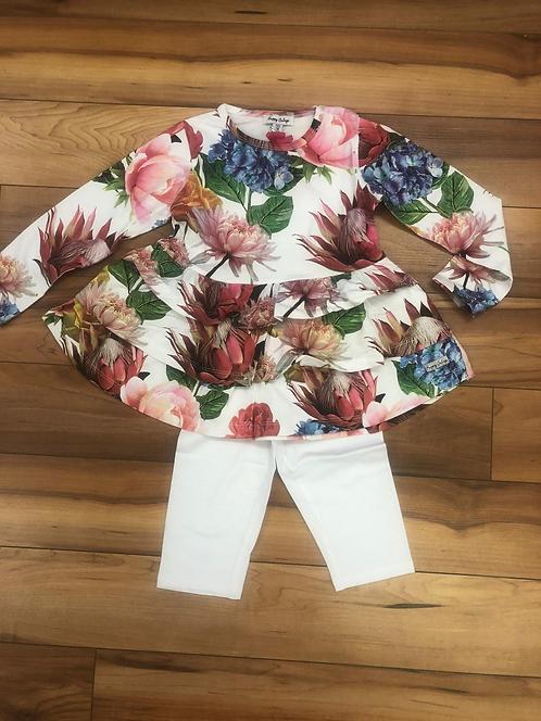Happy Calegi - Olivia Long Sleeve Tunic All Over Print