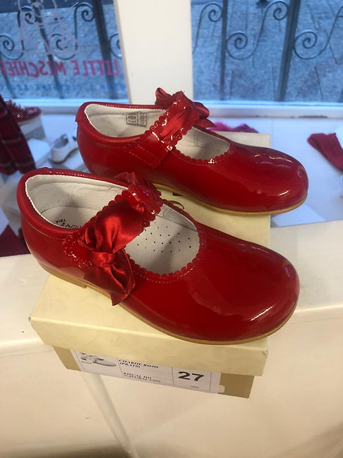 Leon Shoes -  Red Bow Patent