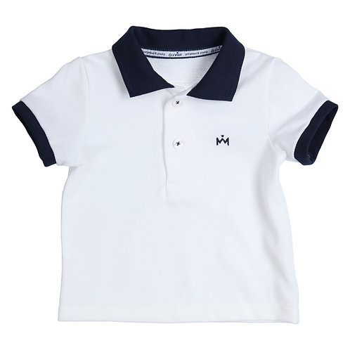 GYMP - Polo Combi White and Navy