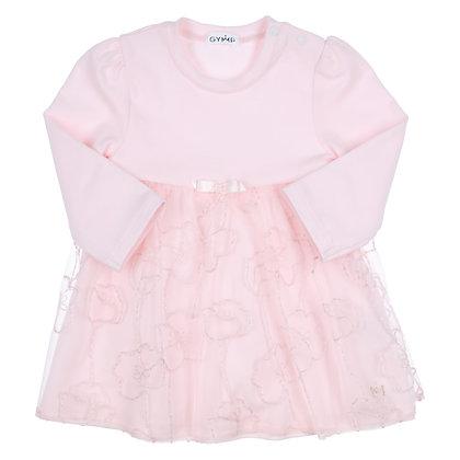 GYMP ELIANE - Light Pink Combi Dress