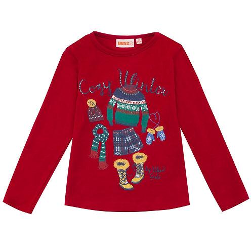 UBS2 -Girls Red Long-Sleeve T-Shirt
