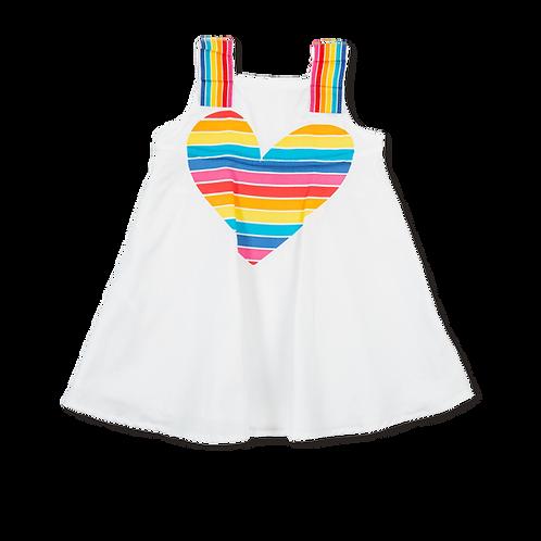 Agatha Ruiz de la Prada - White Dress with Multi Coloured Heart