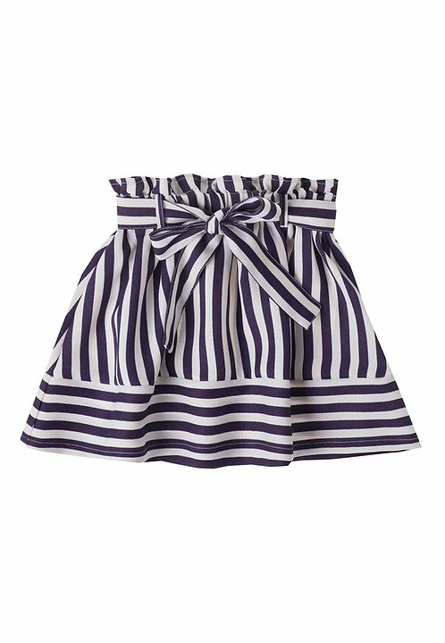 UBS2 -Navy Blue Skirt with Bow