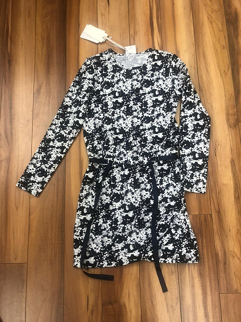 Le Chic - Navy White Long Sleeve Dress