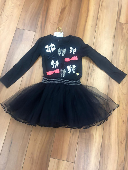 Le Chic - Navy Long Sleeve Bow Dress