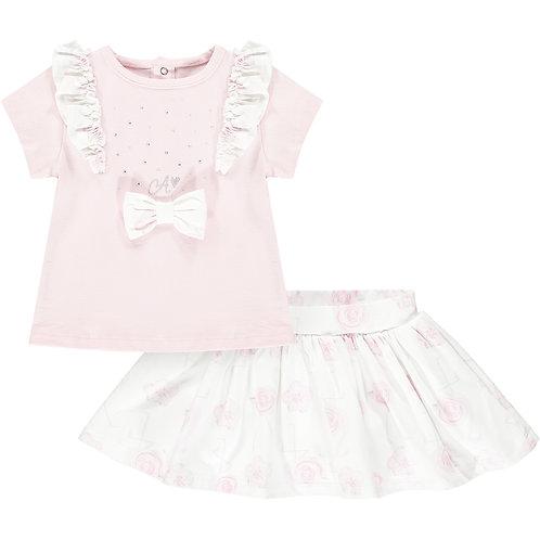 Little A - Jamie Flamingo Print Skirt Set
