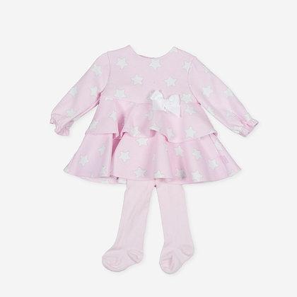 Tutto Piccolo Australis - Pink Star Dress & Tights