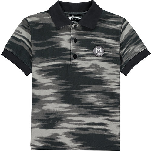 Mitch - Costa Rica Grey Printed Top