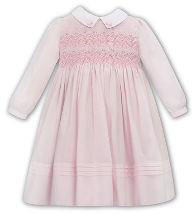 Dani Sarah Louise - Pink and White Hand-Smocked Dress