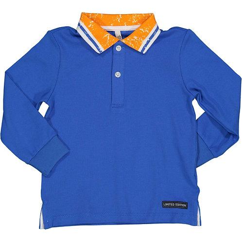 Birba - Blue Long Sleeve Polo Shirt