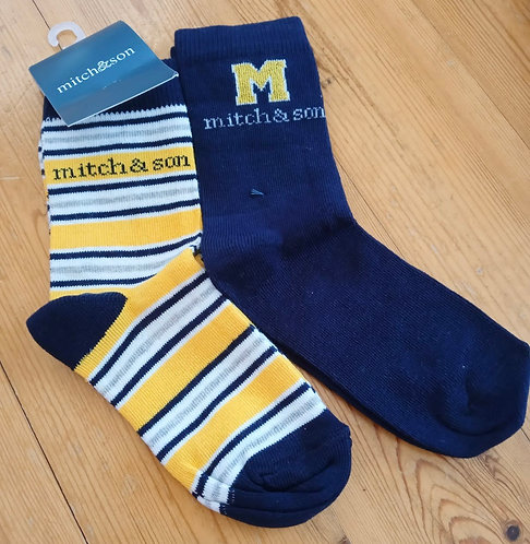 Mitch & Son - Aarons Navy Socks Twin Pack