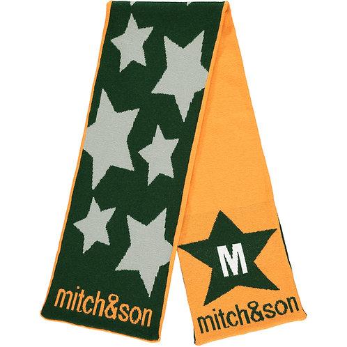 Mitch & Son - Moir Orange Revisable Star Scarf