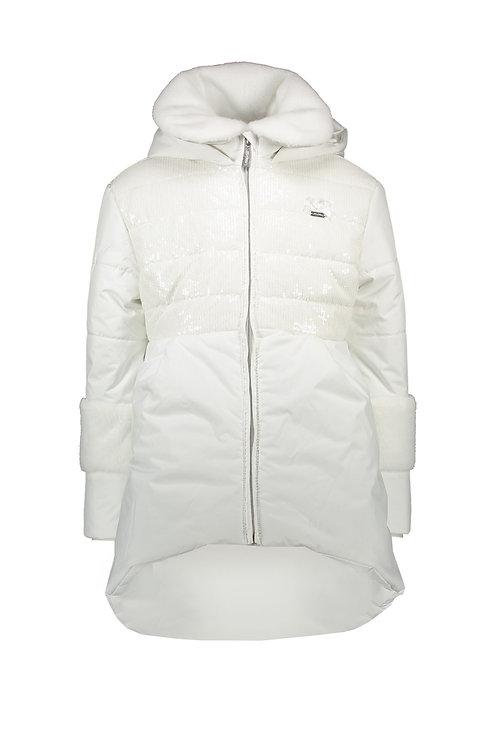 Le Chic - Blyss Off White Sequins Coat
