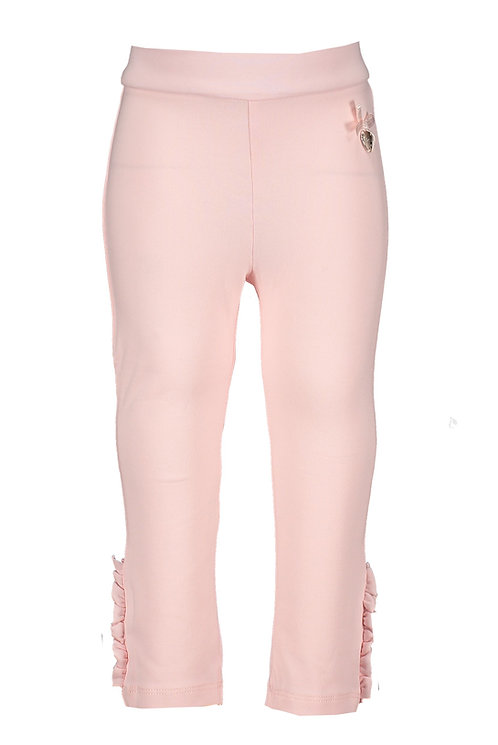 Le Chic - Baby Pink Legging Ruffle & Pearls