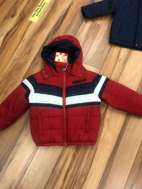 UBS2 - Red Padded coat with hood.