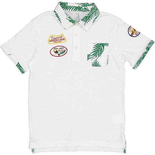 Trybeyond  - White Palm Polo Shirt