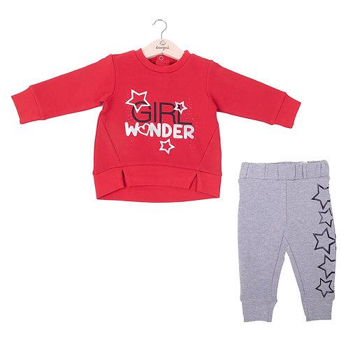 Babybol -Girl Wonder Sweater & Grey Star Ends