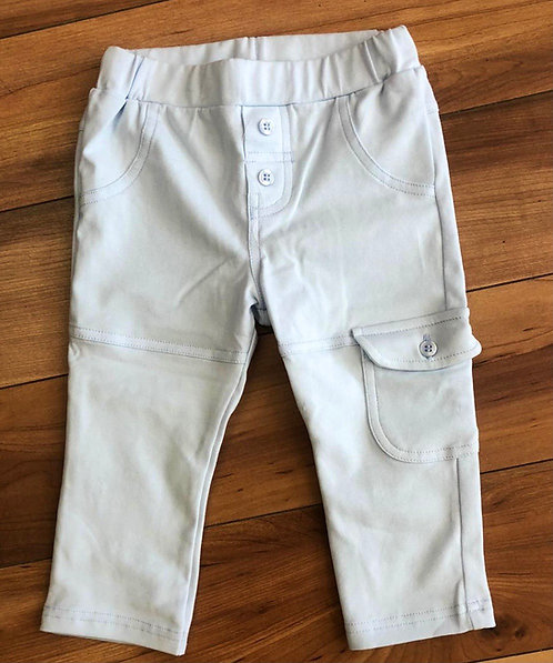 GYMP -  Light Blue Pants with Side Pockets