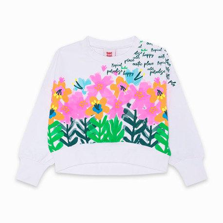 Tuc Tuc - White Cropped Sweatshirt