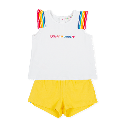 Agatha Ruiz de la Prada - White & Yellow T-shirt & Shorts