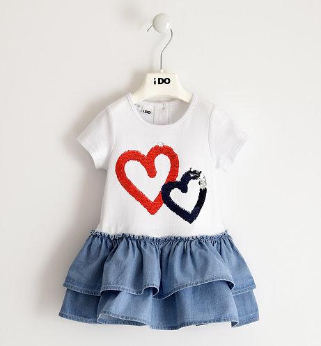 iDO - White & Denim Dress