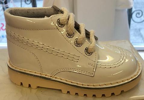 Leon Boots -  White Patent