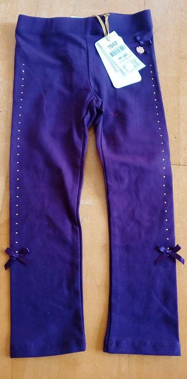 Lofff Purple Bow Leggings