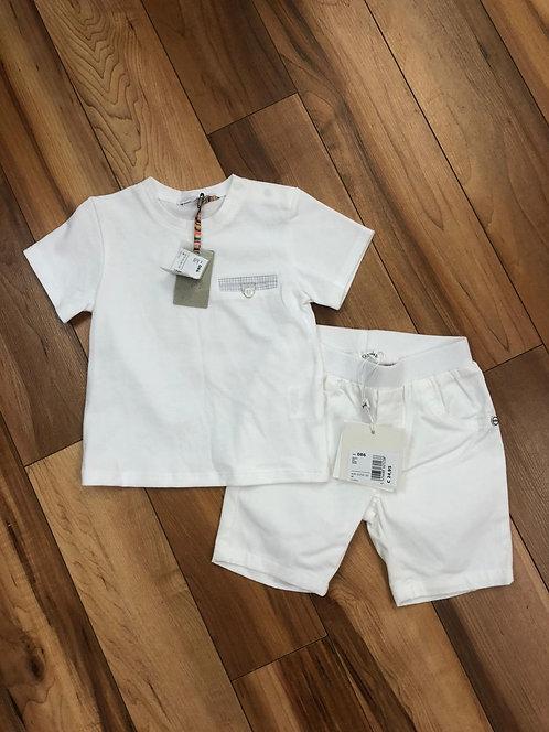 GYMP  - White T-Shirt & Shorts