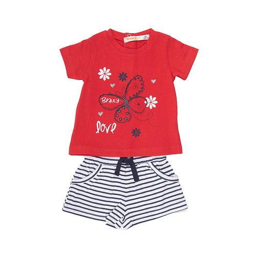 Babybol - Red T-Shirt & Shorts