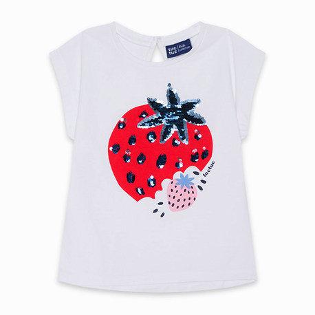 Tuc Tuc - White Strawberry T-Shirt