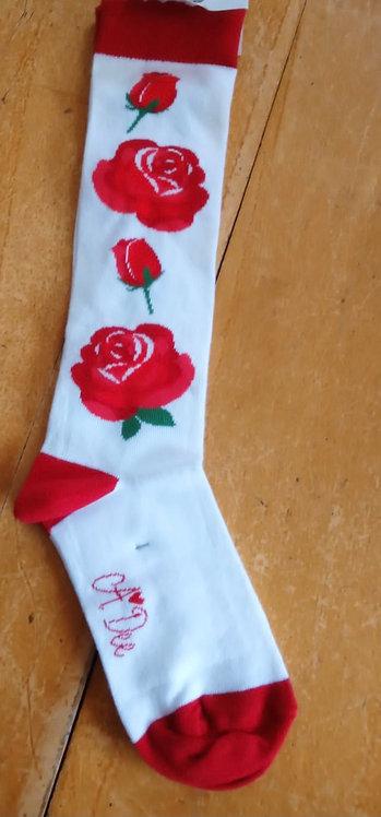 A Dee - Ally Royal Garden Rose Socks