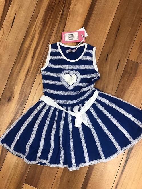 Lofff - Ocean Blue & White Dress
