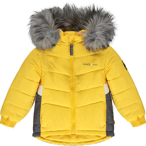 Mitch & Son Ayden - Mustard Padded Jacket