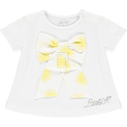Little A - Kadence Sunshine Bow White T-shirt