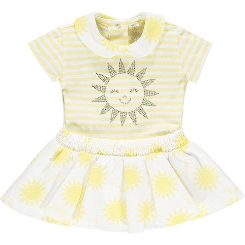 Little A - Kara Stripe Sunshine Dress