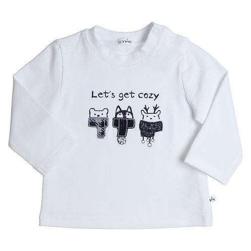 GYMP -  White Lets Get Cosy Long Sleeve