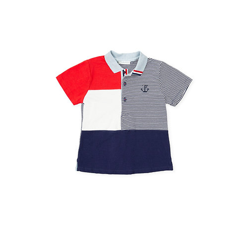 Tutto Piccolo - One Step Navy Blue Polo Shirt