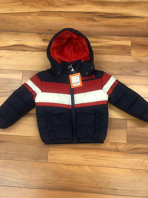 UBS2 - Navy Padded coat with hood.