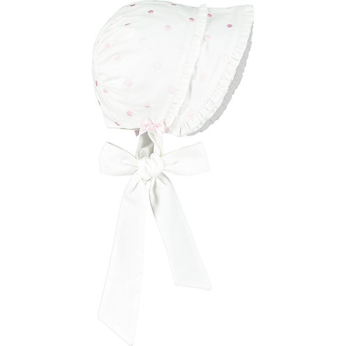 Waiva - White Brushed twill Bonnet